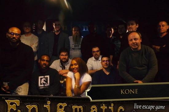 Bravo aux équipes Kone pour leurs prestations chez Enigmatic. Une belle session de jeu, de partage, et de convivialité.